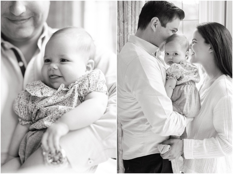 Cabot family session picturing two new parents with their sweet baby girl.