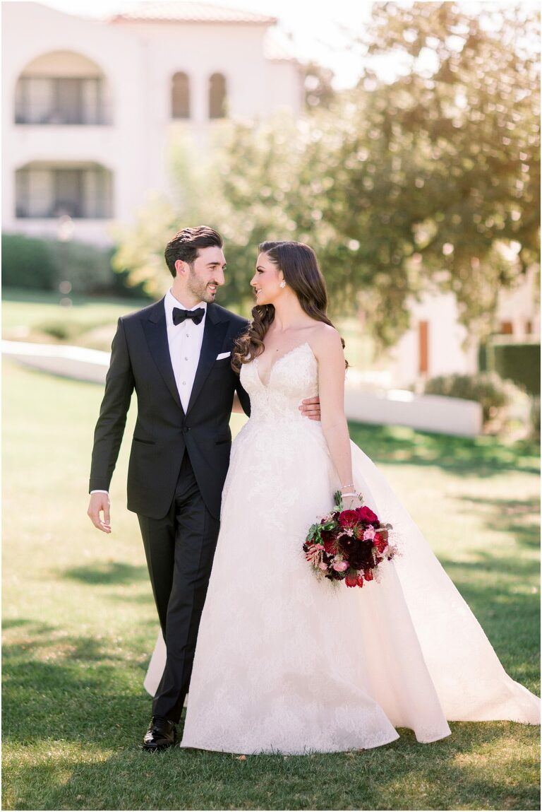 ojai farmhouse wedding bride and groom